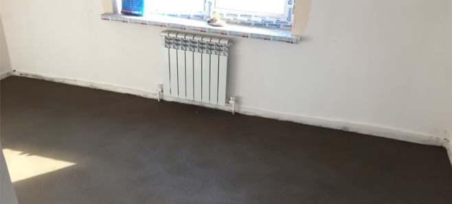 Стяжка пола в доме 120 м²