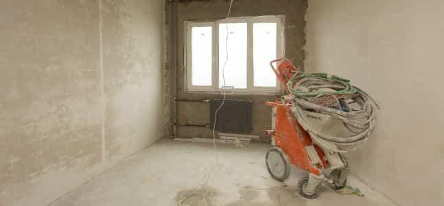 Штукатурка стен в квартире 58 м²
