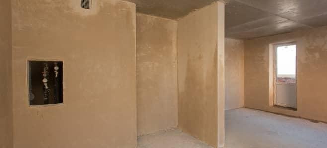 Штукатурка стен и стяжка пола в квартире 74 м²