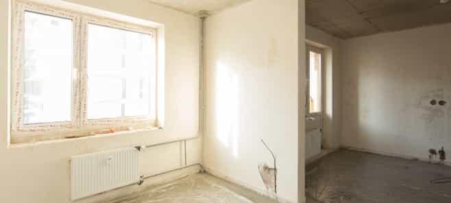 Штукатурка стен и стяжка пола в квартире 87 м²