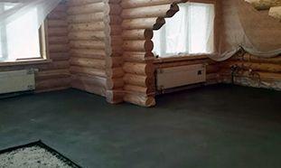 Стяжка пола в деревянном доме
